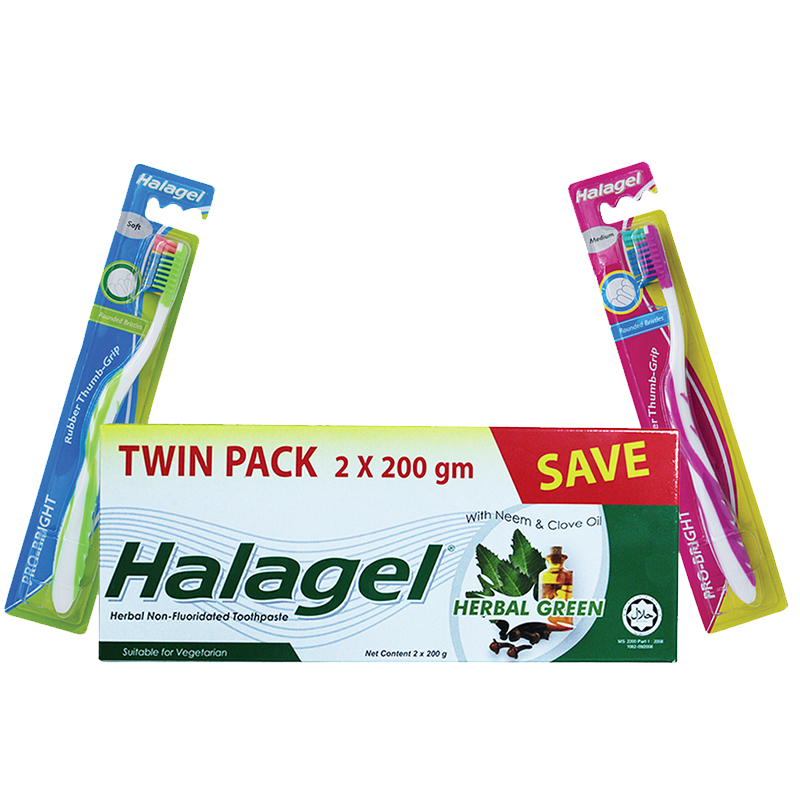 Halagel Toothpaste Promo Pack with Toothbrush