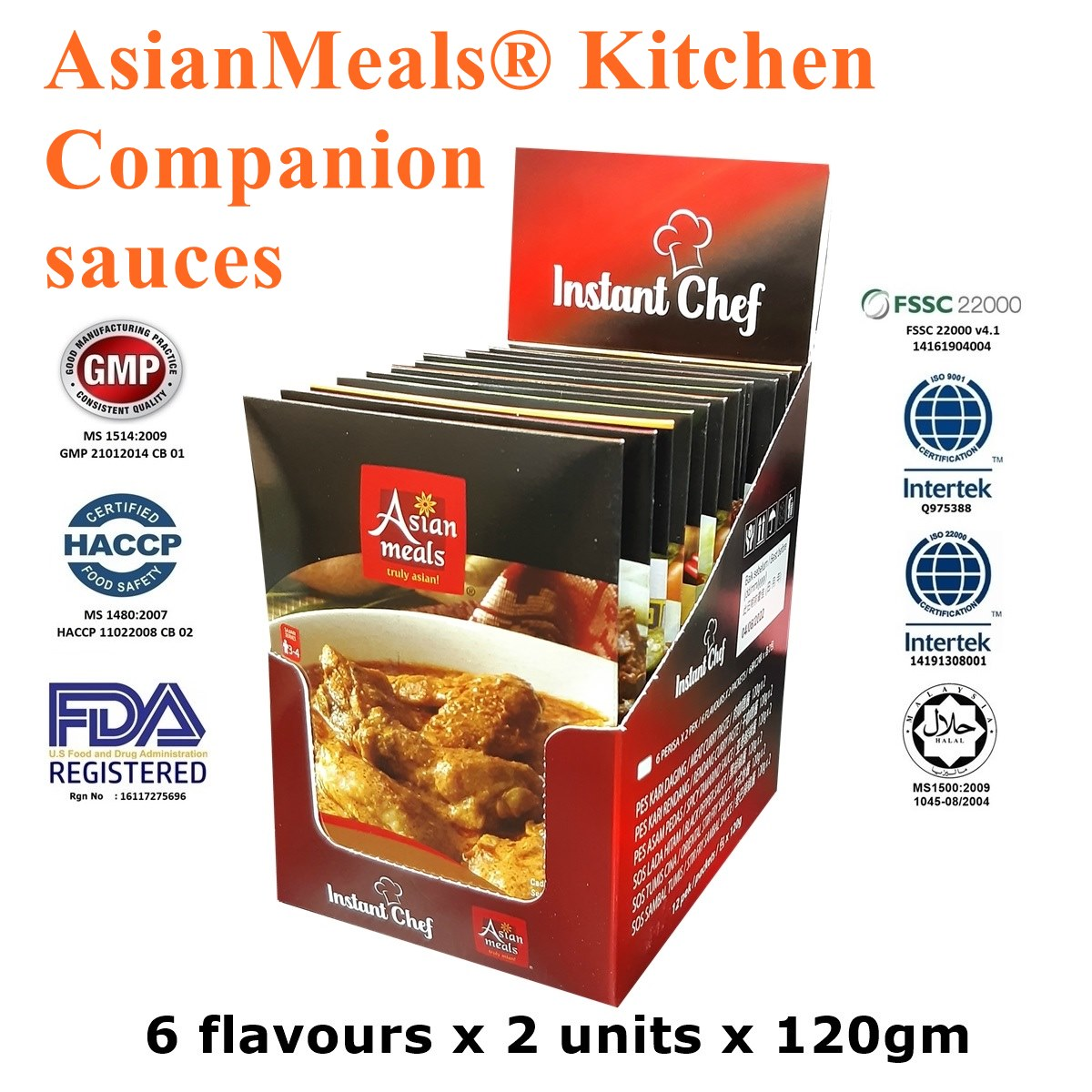 AsianMeals® Kitchen Companion sauces: Sambal - Curry - Black Pepper - Rendang - Asam Pedas - Stir Fry