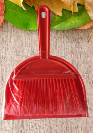 Mini Broom With Dustpan Set / Stove Broom ( Red Colour)