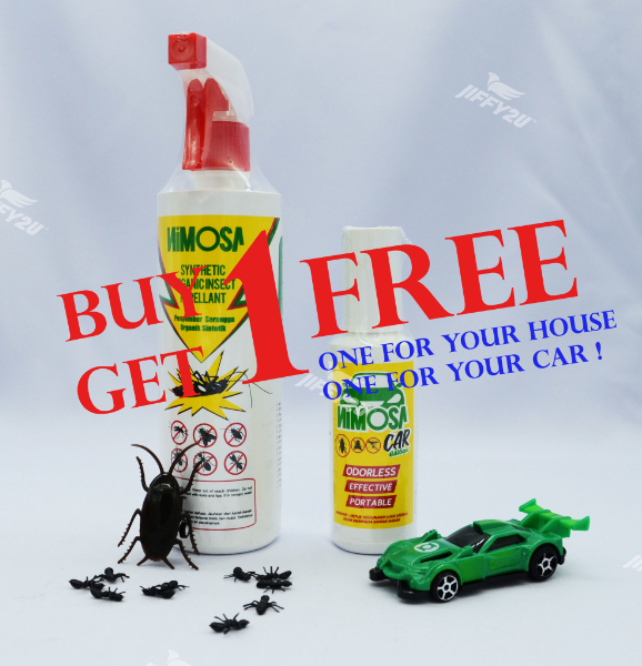 PROMOTION - NIMOSA Organic Insect Spray Repellent (Buy One Get 1 NIMOSA SPRAY MINI for FREE - worth RM 12)