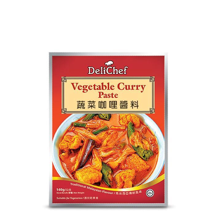 Delichef Vegetable Curry Paste Pes Kari Sayur Masakan Enak Lazat Halal 140g