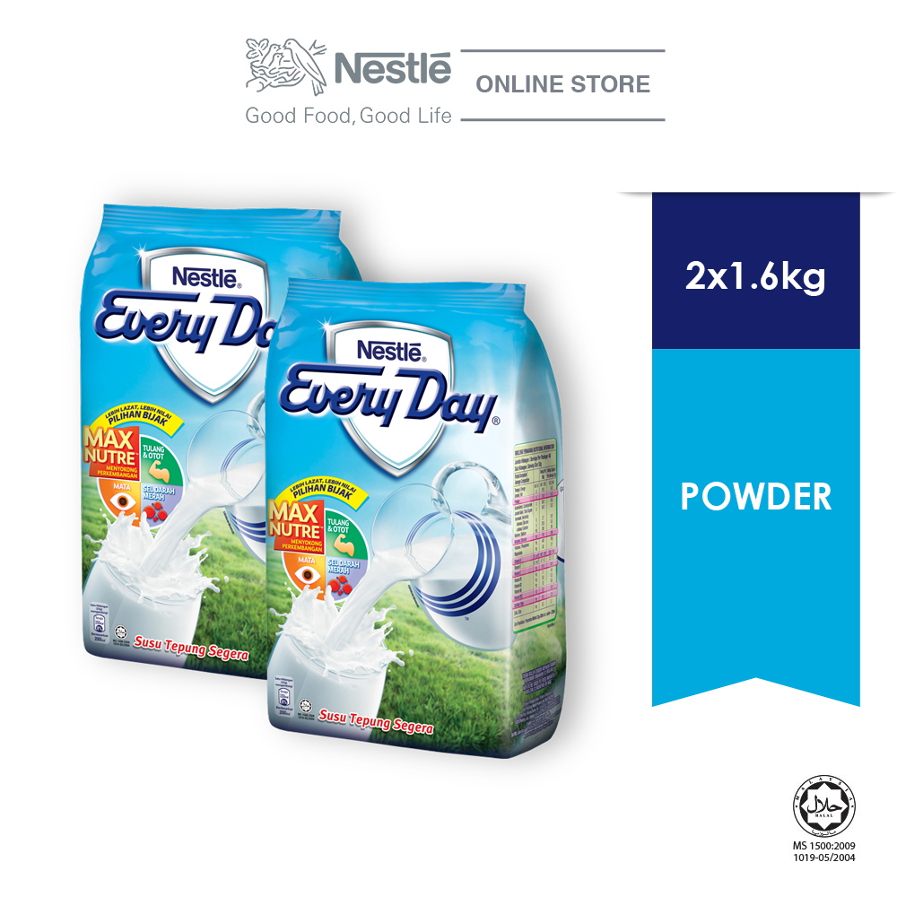 NESTLE EVERYDAY Milk Powder Soft Pack (1.6kg x 2 packs)