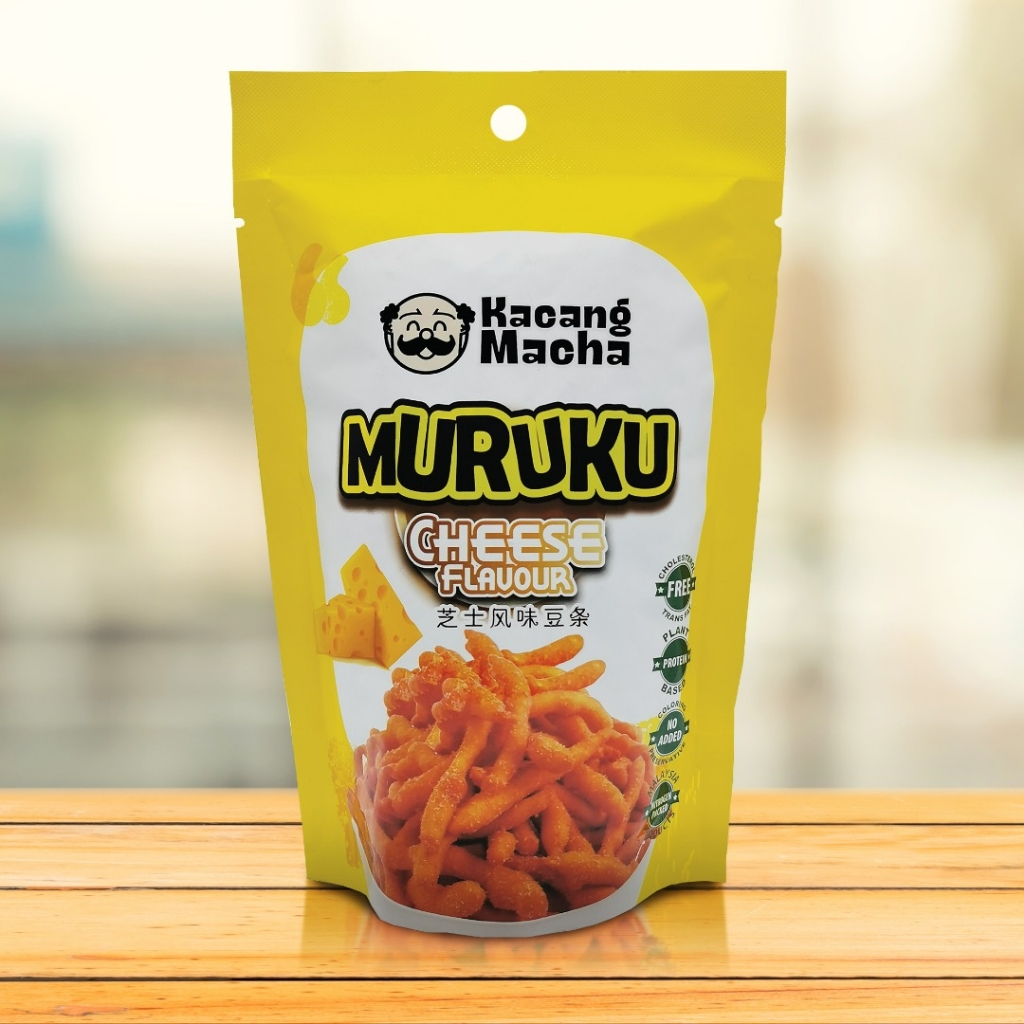 KACANG MACHA MURUKU CHEESE FLAVOUR - 60g (PACK OF 9)