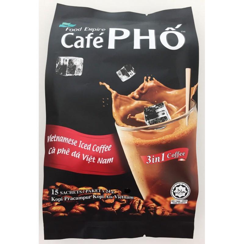Food Empire Café Pho Vietnamese Ice 3 in 1 Coffee Kopi Pracampur Kopi Ais Vietnam (24g x 15 sachets)