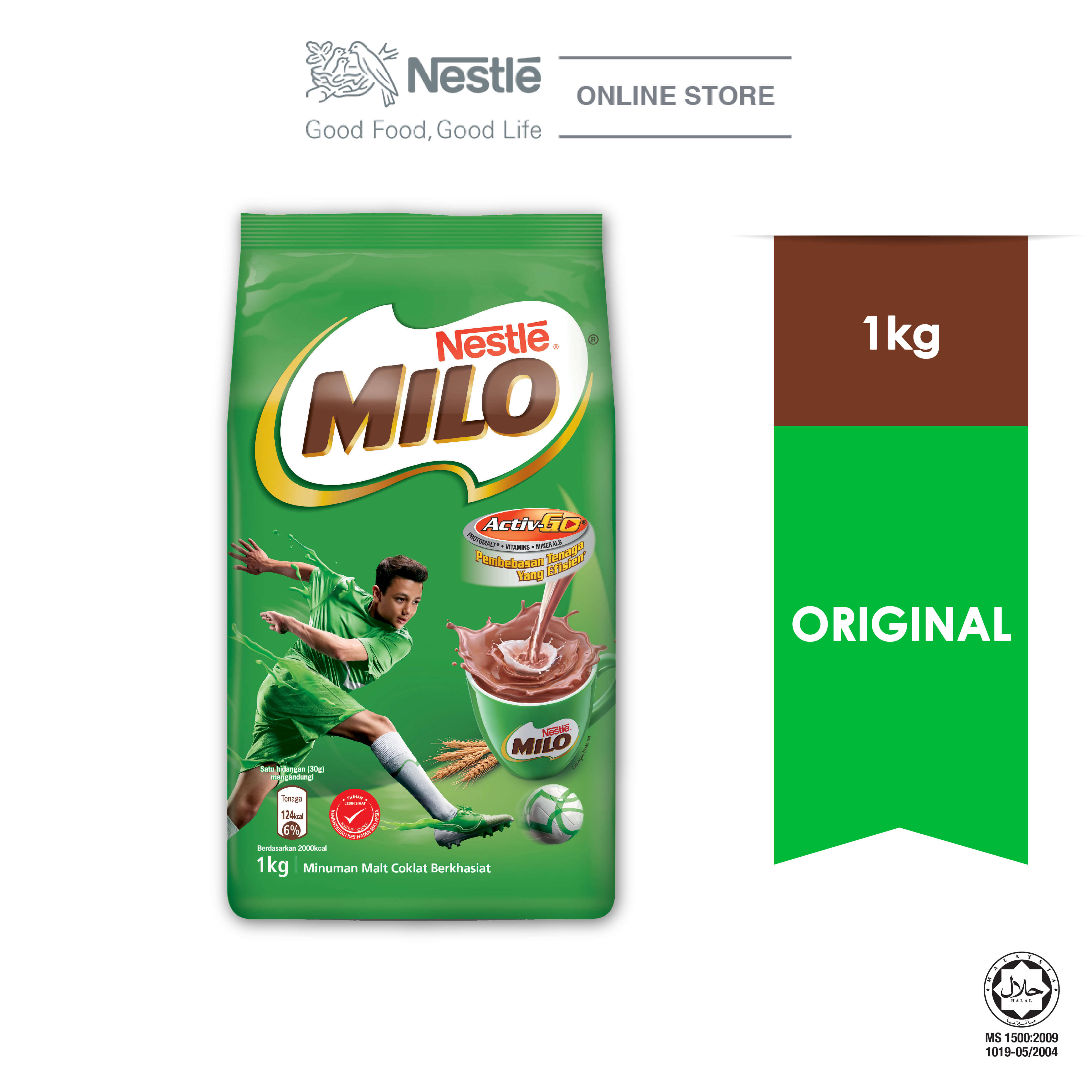 NESTLE MILO ACTIV-GO CHOCOLATE MALT POWDER Soft Pack 1kg ExpDate: AUG20