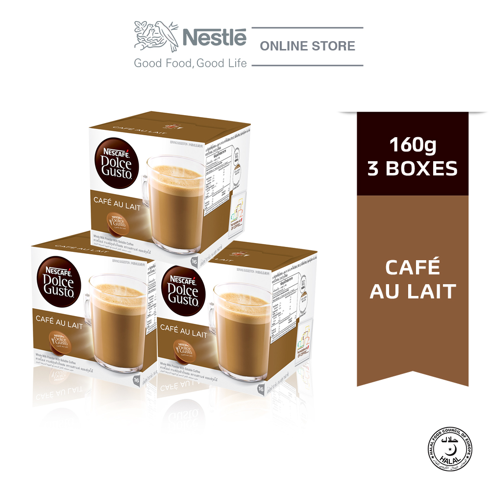 NESCAFE Dolce Gusto Cafe Au Lait Coffee Bundle of 3 Boxes ExpDate: SEP20