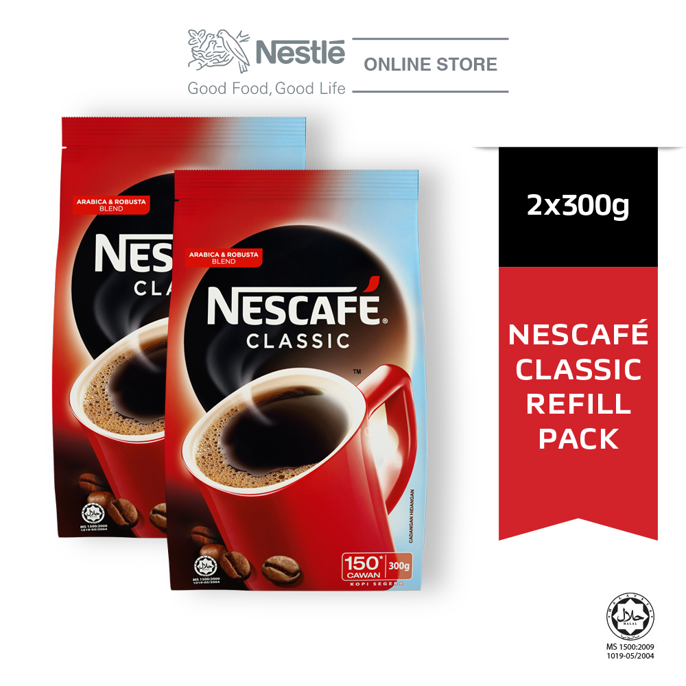 NESCAFE CLASSIC Refill 300g, Bundle of 2
