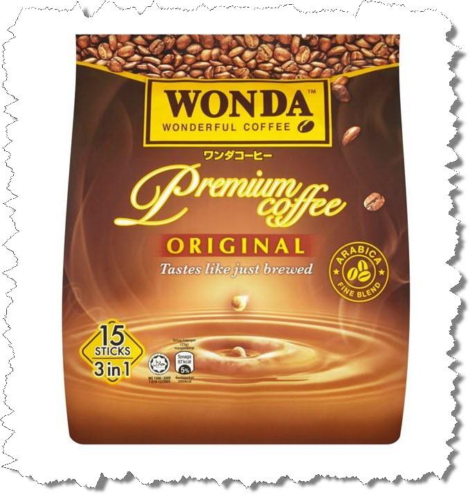 Wonda 3 in 1 Arabic Fine Blend Premium Coffee Original 15 Stick per Packs