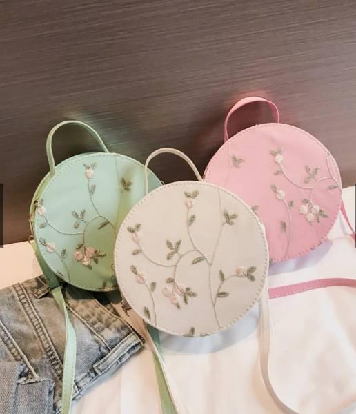 Korean Handmade Cross Stitched Shoulder Bag