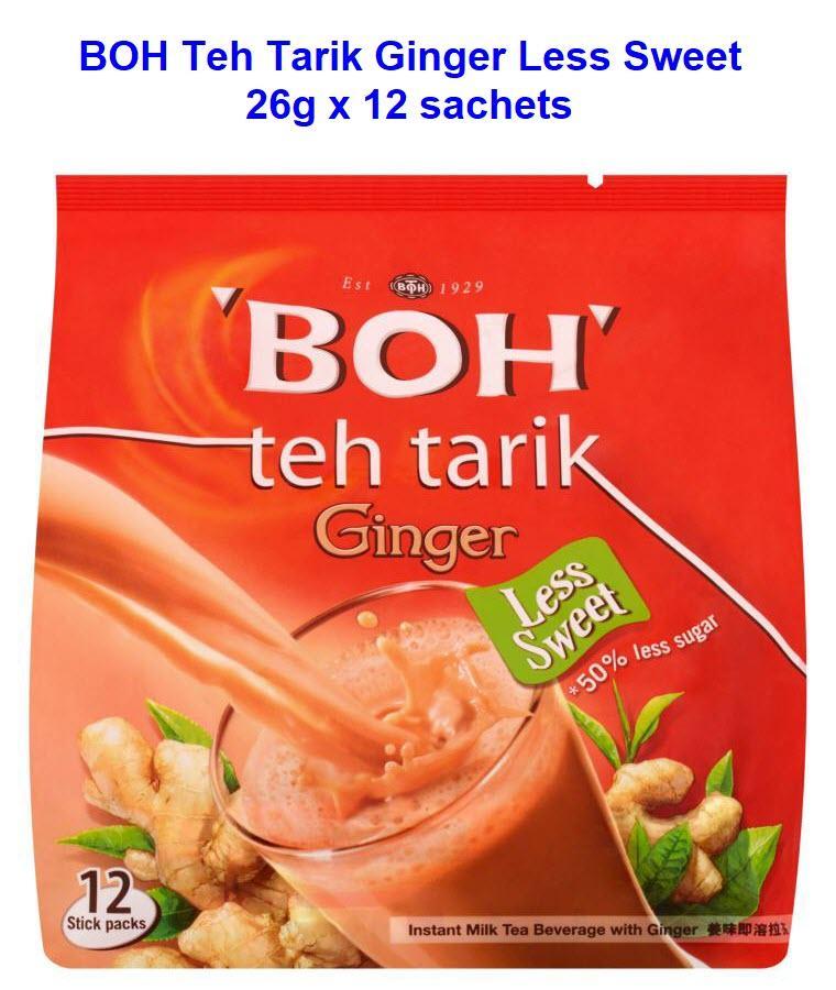 BOH Teh Tarik Ginger Less Sweet (26g X 12sachets)