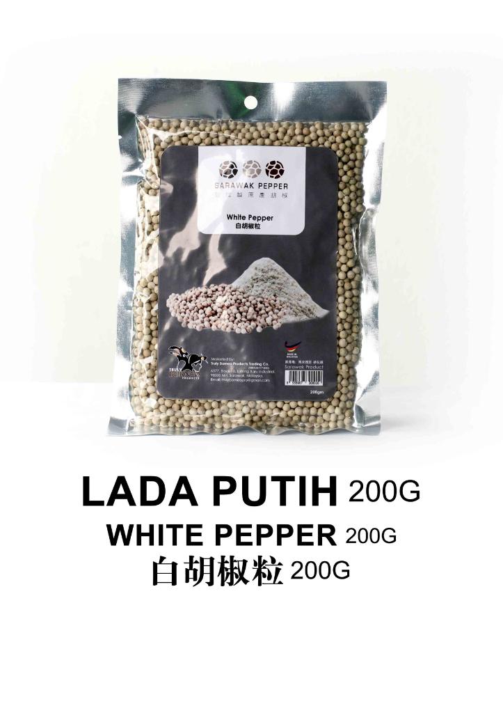 Sarawak White Pepper (200g vacuum seal pack)