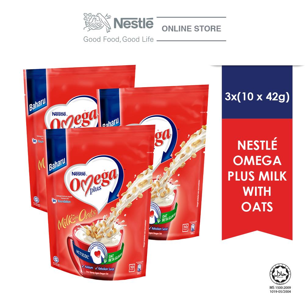 NESTLE OMEGA PLUS With Oats 10 Sticks 42g x3 packs EXP DATE: JUN 20
