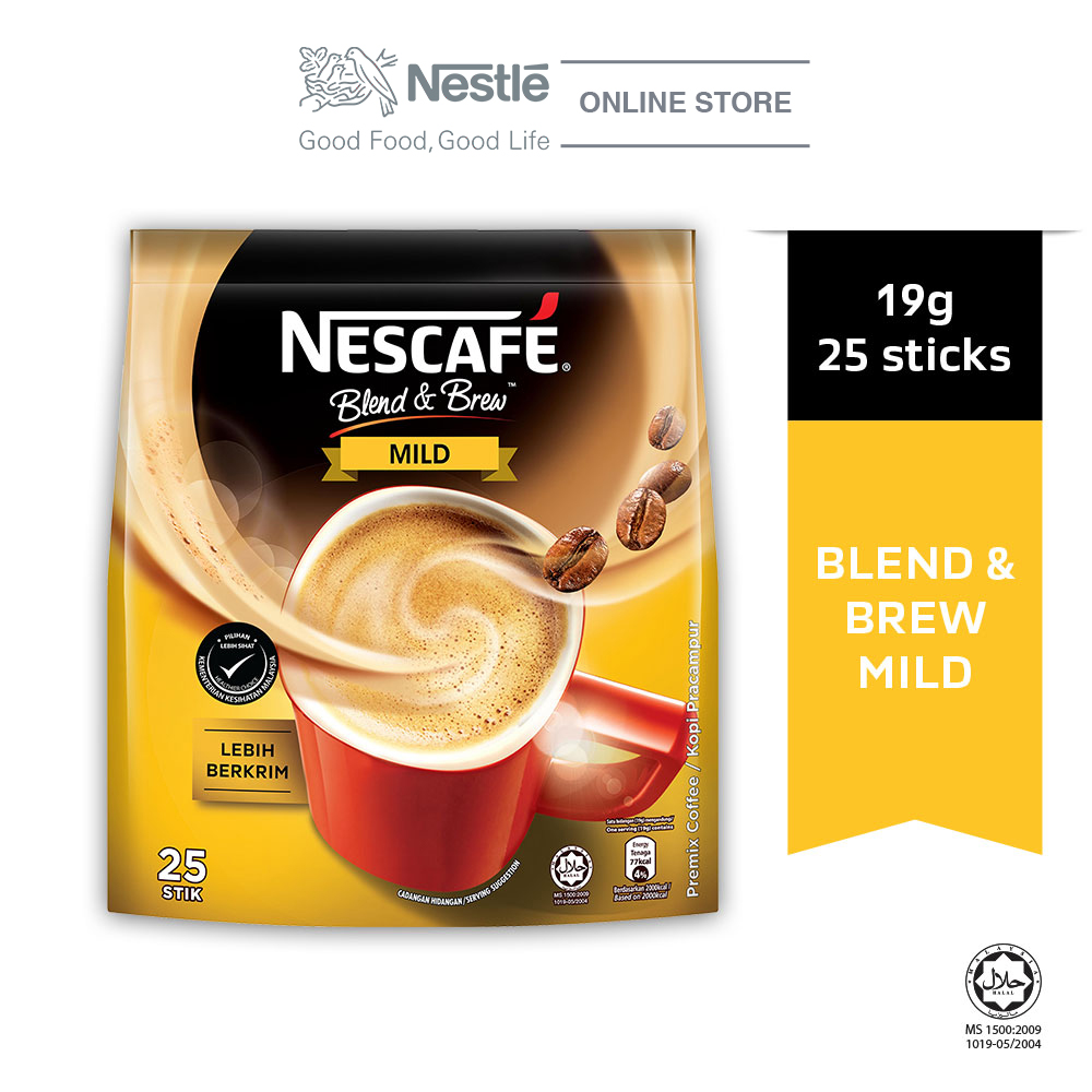 NESCAFE Blend and Brew Mild 25 Sticks 20g Each