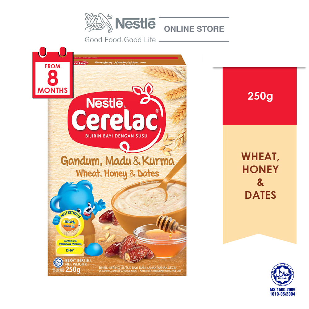 NESTLE CERELAC Wheat, Honey & Dates Infant Cereal Box Pack 250g Expdate:Nov20