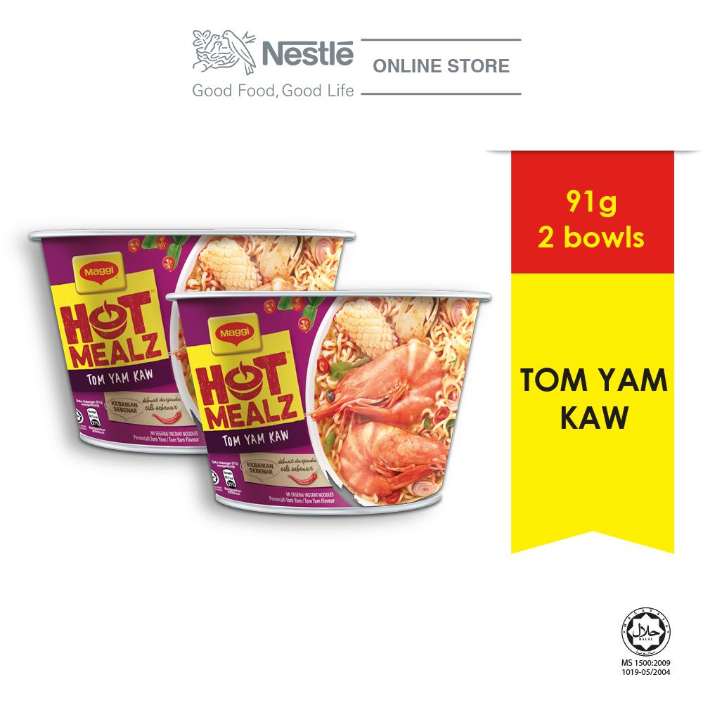 MAGGI Hot Mealz Tom Yam Kaw Bowl (91g x 2 bowls)  Exp Date: DEC20