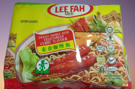 LEE FAH Vegetarian Curry Noodles 素食咖喱面 (5 packs x 70g)