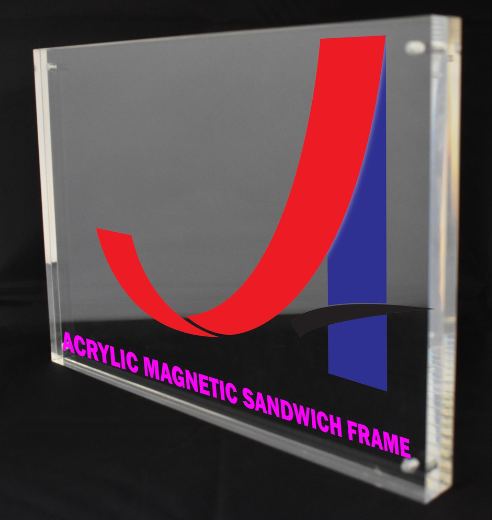 A4 Clear Acrylic Magnetic Sandwich Frame (12mm+ 12mm)