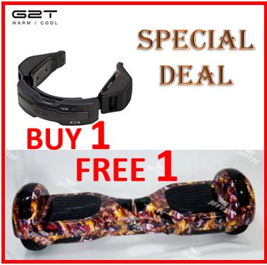 [BUY 1 FREE 1] Moai G2T Portable Electric Scarf Cooling; Warming Air conditioner FREE Power Hoverboard (worth RM 559) !