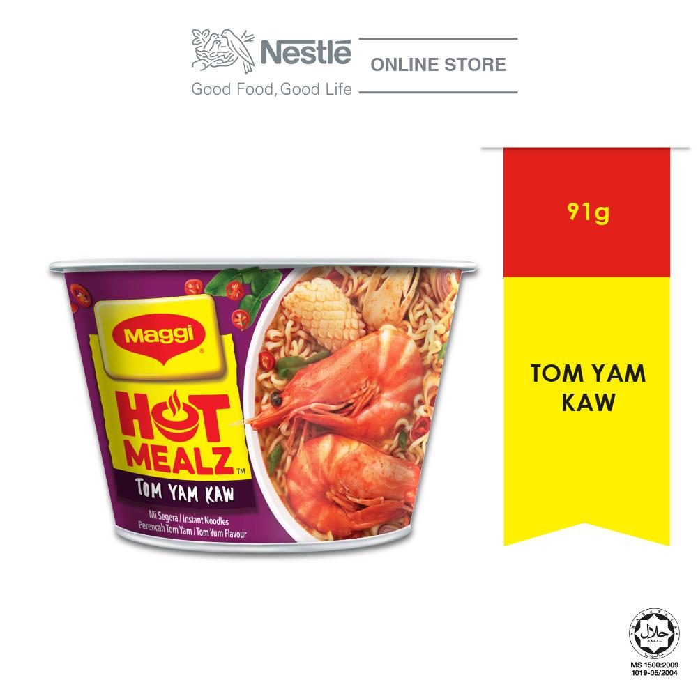 MAGGI Hot Mealz Tom Yam Kaw 1 Bowl, 91g Each EXP DATE: DEC 20