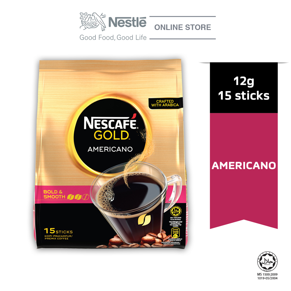 Nescafe Gold Americano 15 Sticks 12g