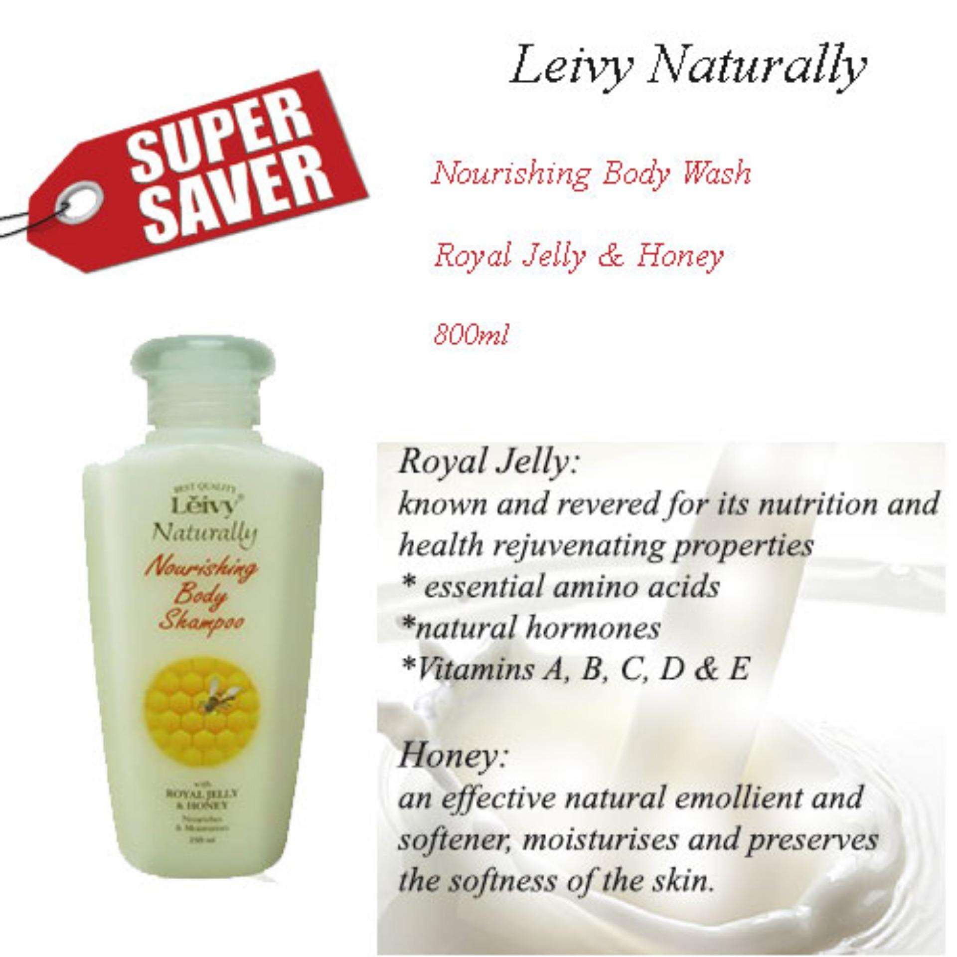 Leivy Naturally Shower Cream - Royal Jelly & Honey (Cap) (250ml)