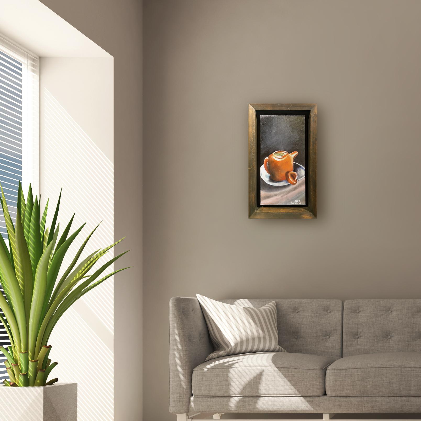 Zisha Pot Oil Painting By Yap Xin Yi 15.20 cm x 30.50 cm 紫砂壶油画 叶欣仪/绘