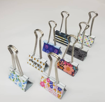 Metal binder clips Fancy Double Clip 41mm - (2PCS/Pack)
