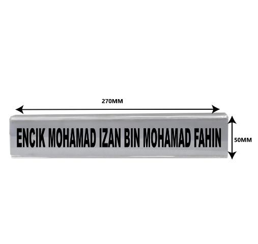 Acrylic Office Cabinet Hook 2 Sided Signage