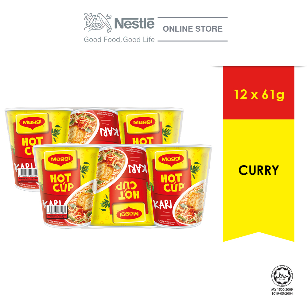 MAGGI Hot Cup Curry (6 cups x 2)