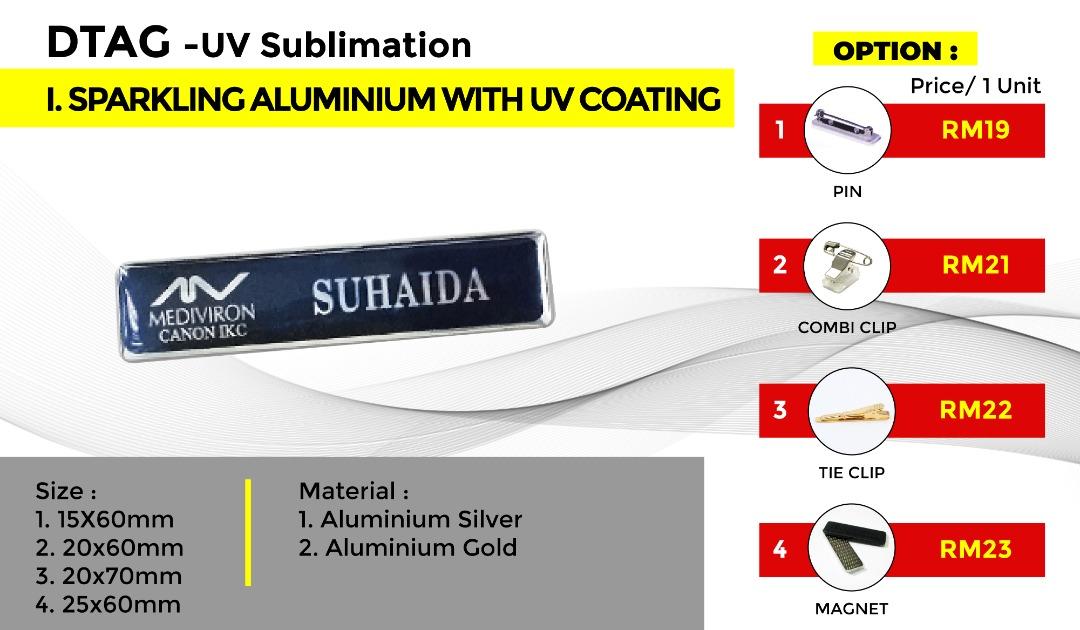 DTAG - UV Sublimation I.SPARKLING ALUMINIUM WITH UV COATING