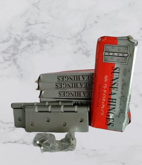 2 pcs x SUNSEA Nylon Spring Door Hinge - Grey Color 4 (L100mm x W73mm x 1.5mm)
