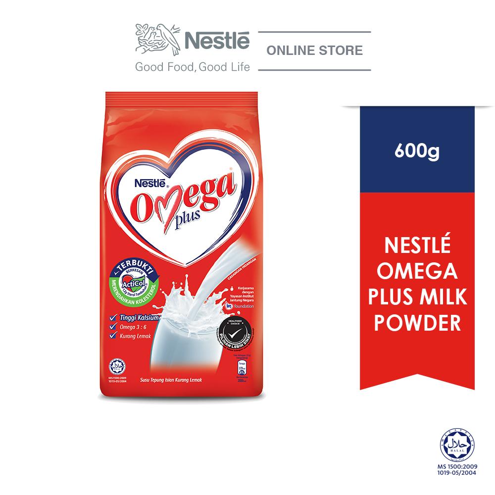NESTLE OMEGA PLUS Milk Powder Softpack 600g