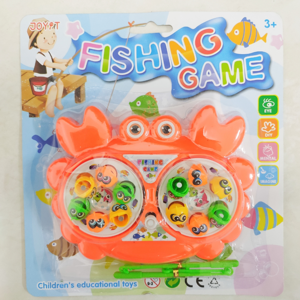Rotating Fishing Game Kid Toy Crab with Rod Magnetic