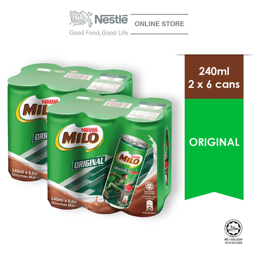 MILO Original Activ-Go Chocolate 240ml , 2 Clusters