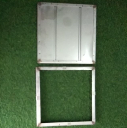 Stainless Steel manhole cover 12 (L) x12(W) x 1 (H)