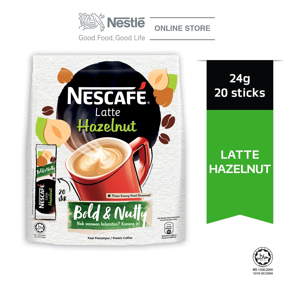 NESCAFE Latte Hazelnut 20 Sticks 24g