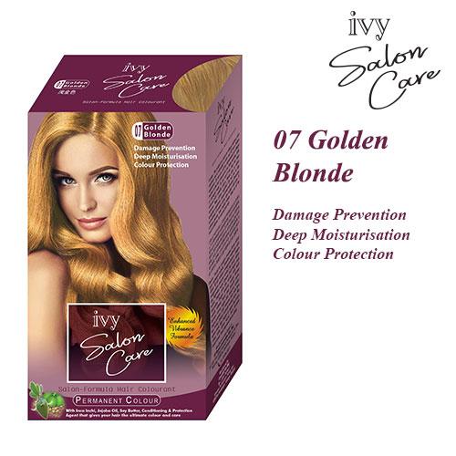 Ivy Salon Care Hair Dye Color Golden Blonde 07