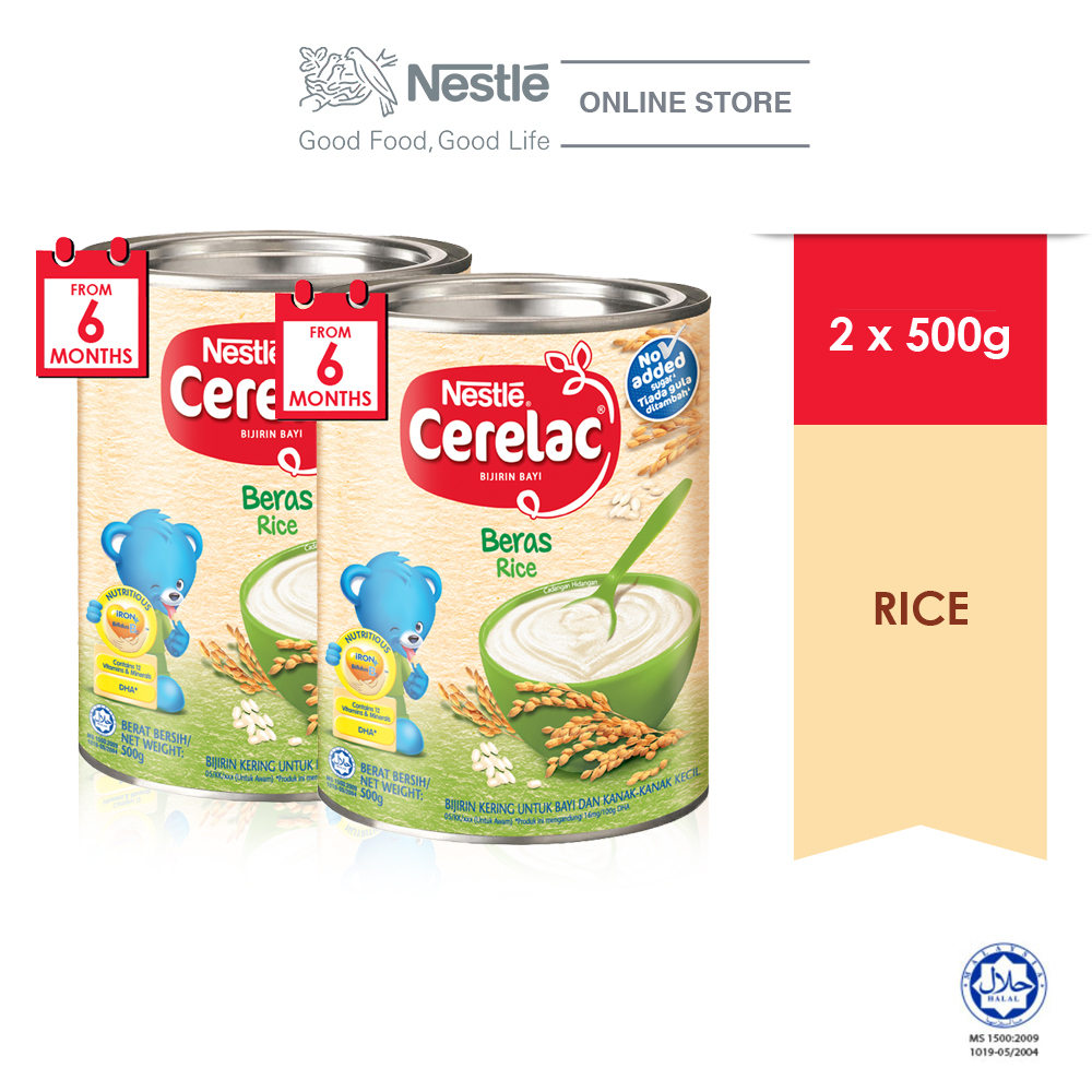 NESTLE CERELAC Rice Infant Cereal Tin (500g x 2 tins)