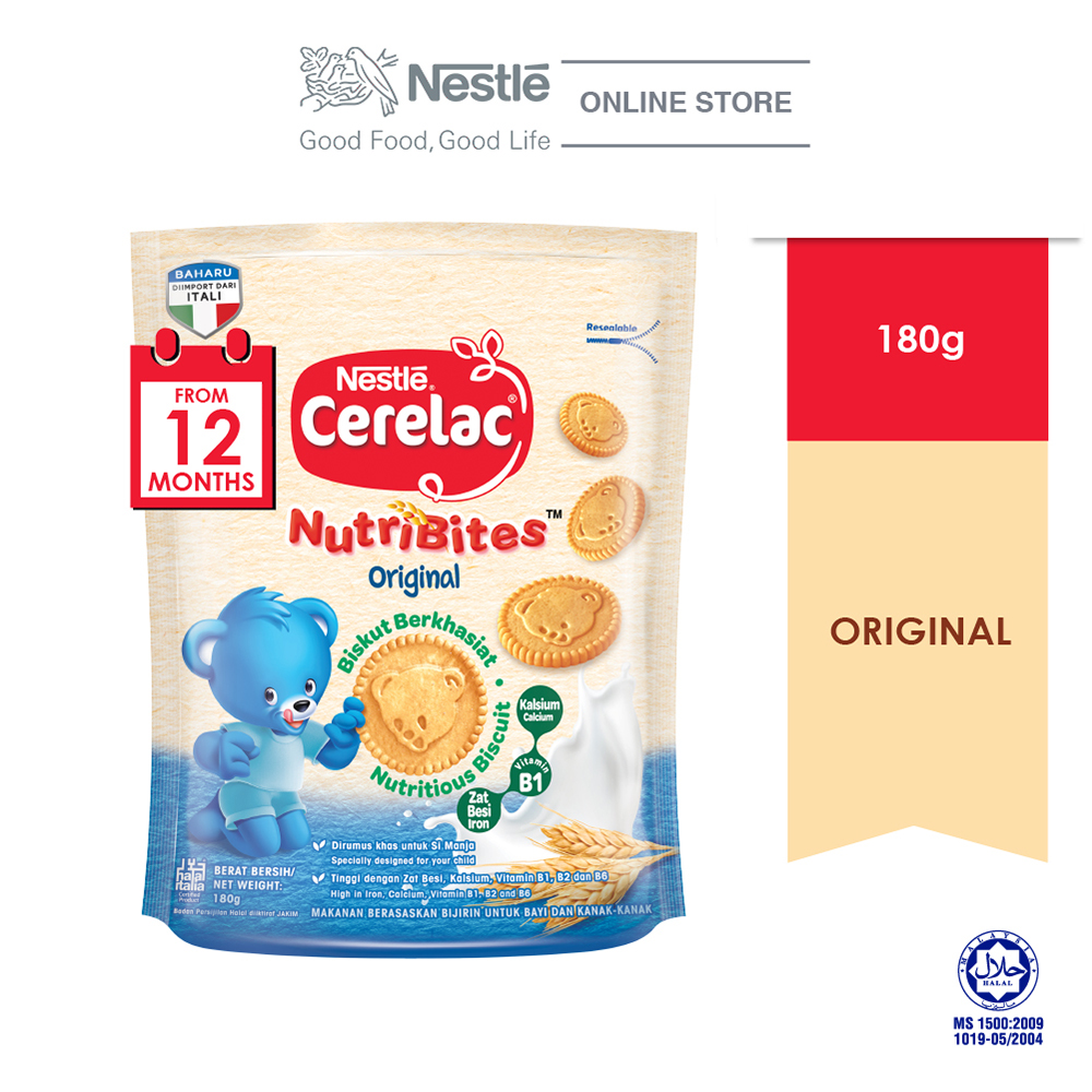 Cerelac Bsct Nutribite Original 1 box of 180g