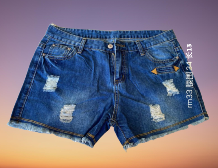 Korean Fashion Women Short Pants Jeans