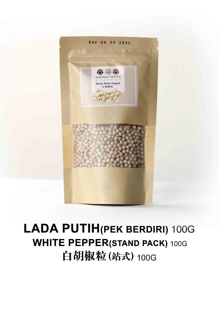 Sarawak White Pepper (100g  zip lock stand pack)