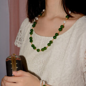 Forest Green Agate Necklace