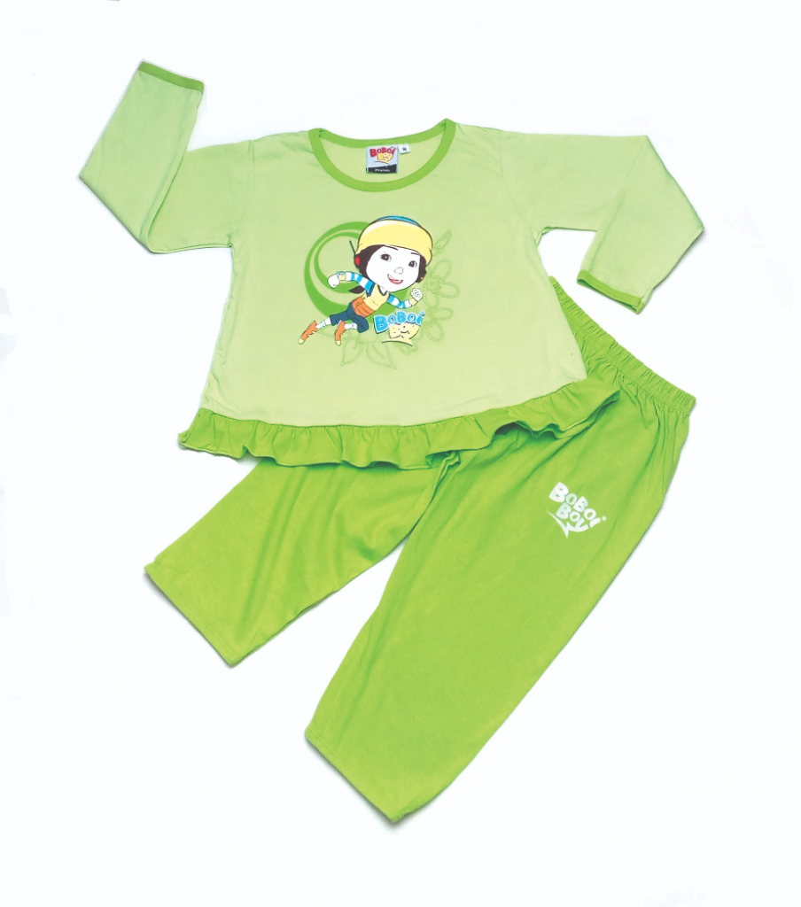 Original BoBoiBoy Ying Character Girl Pyjamas 100%Cotton (BGJ 99)