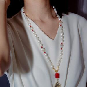 Coral Daun Sirih Necklace