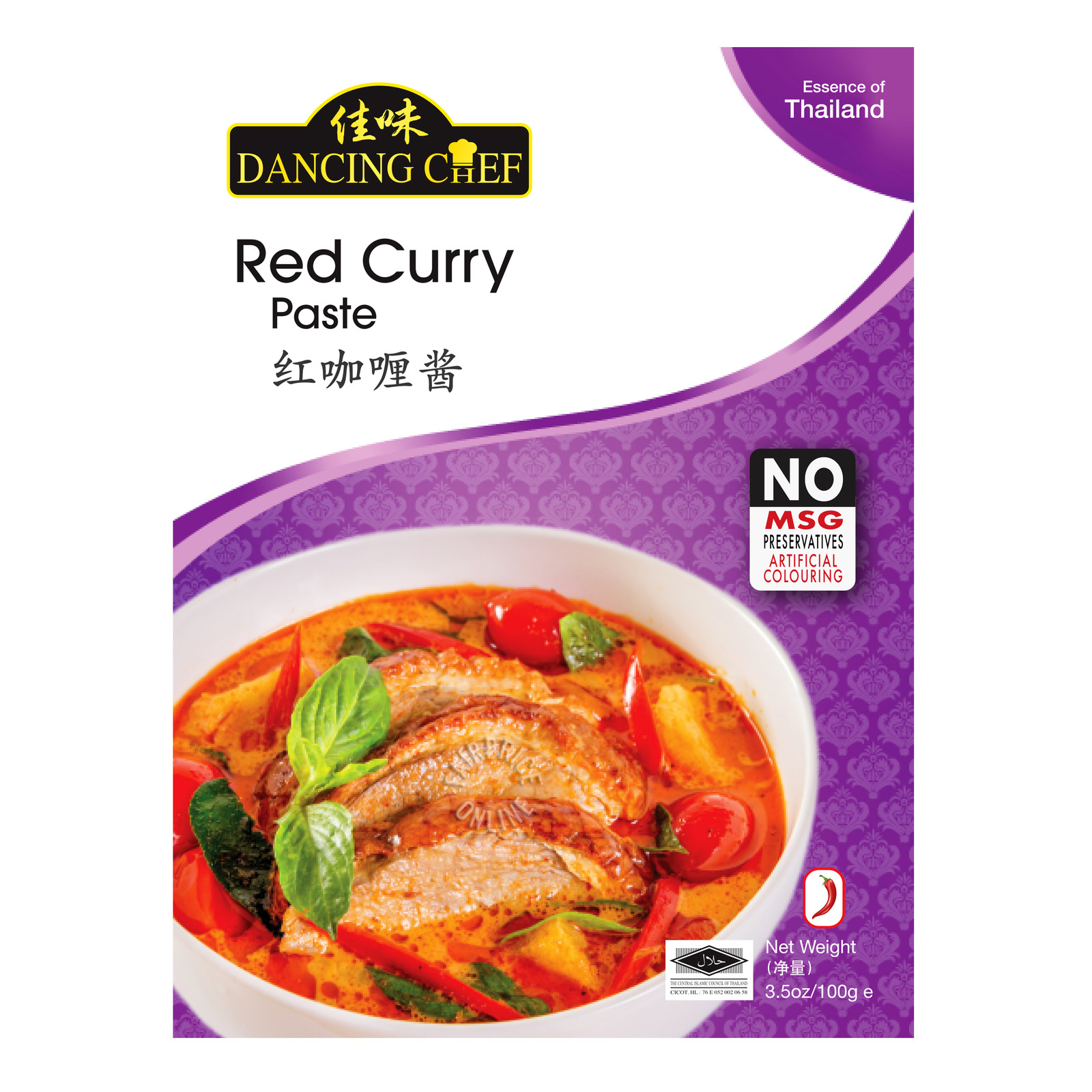 Thailand Dancing Chef Red Curry Paste 100g No MSG