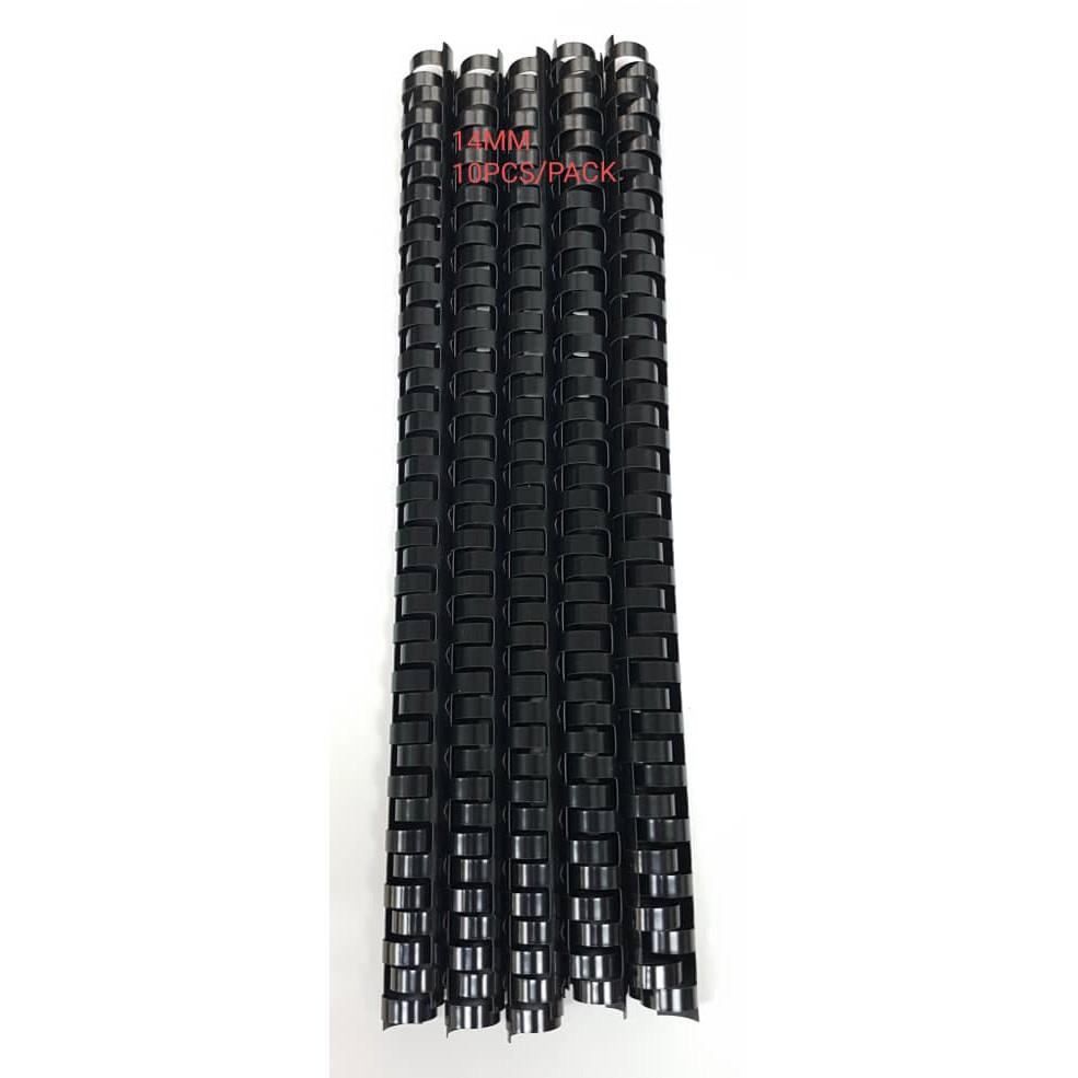 Black Binding Comb 14mm - (10pcs/pack)