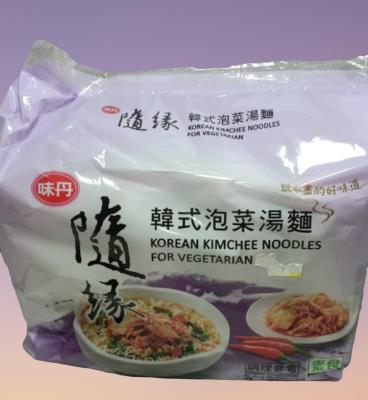 Vegetarian Korean Kimchi Noodle 随缘素韩国泡菜面