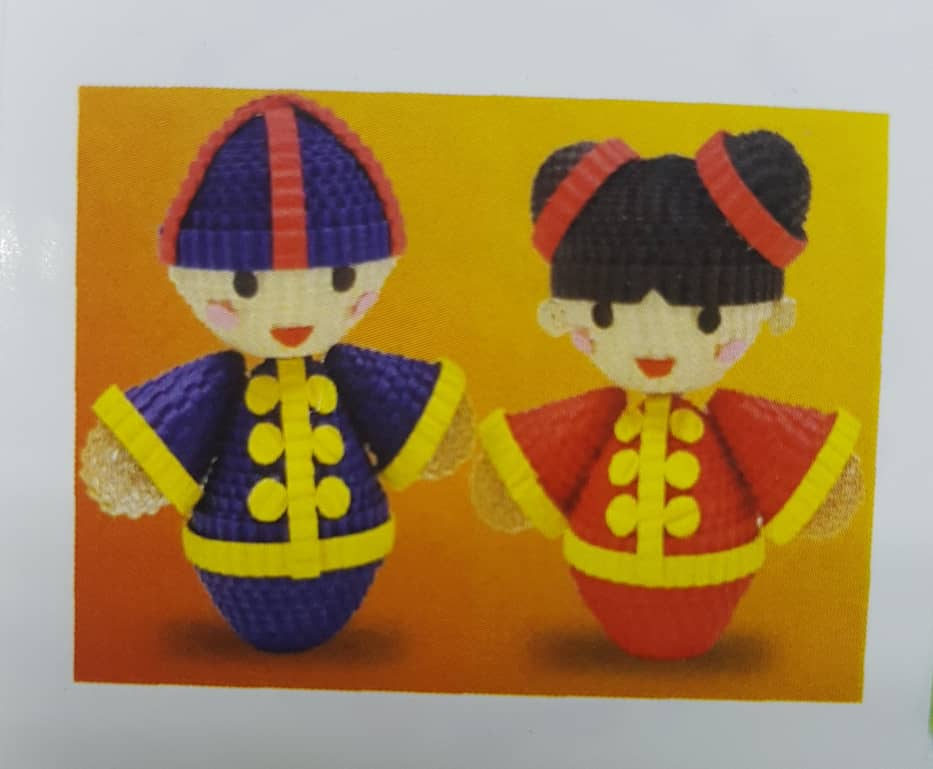 CREATIVE PAPER KOKORU COLOR CORRUGATED PAPER - Chinese doll