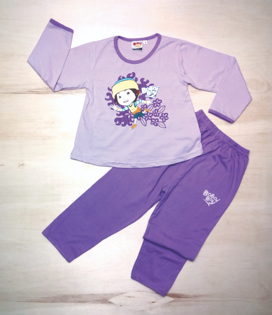 Original BoBoiBoy Ying Character Girl Pyjamas 100%Cotton (BGJ 100)
