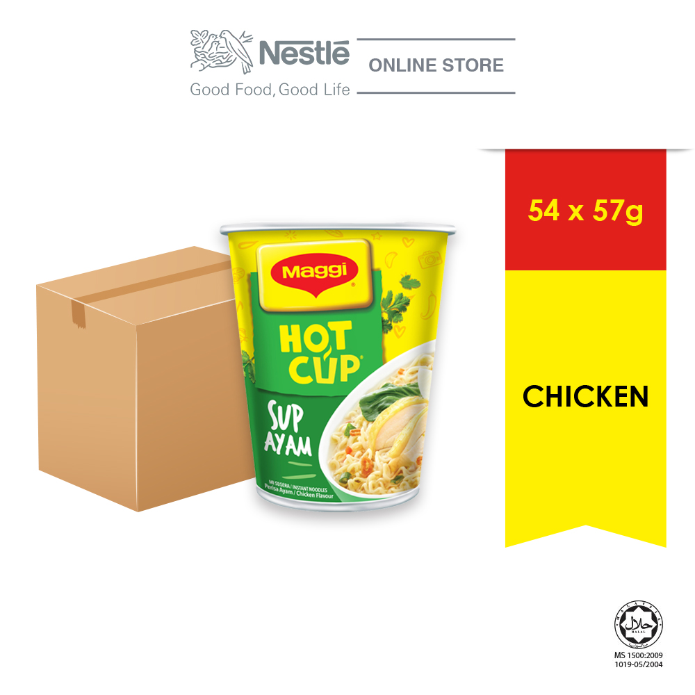 MAGGI Hot Cup Chicken 54 Cups x 58g Carton ExpDate:SEP20